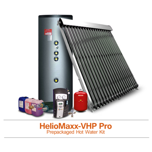 HelioMaxx Pro Pre-Packaged Solar Hot Water Kits With Evacuated Tubes