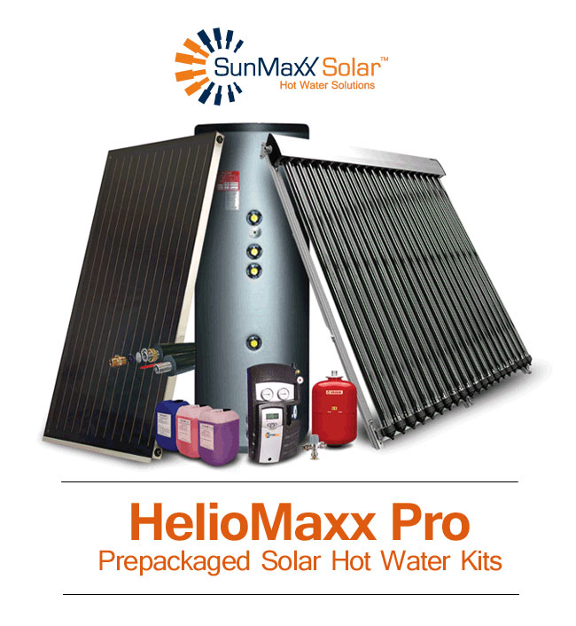 HelioMaxx Prepackaged Solar Hot Water Kits