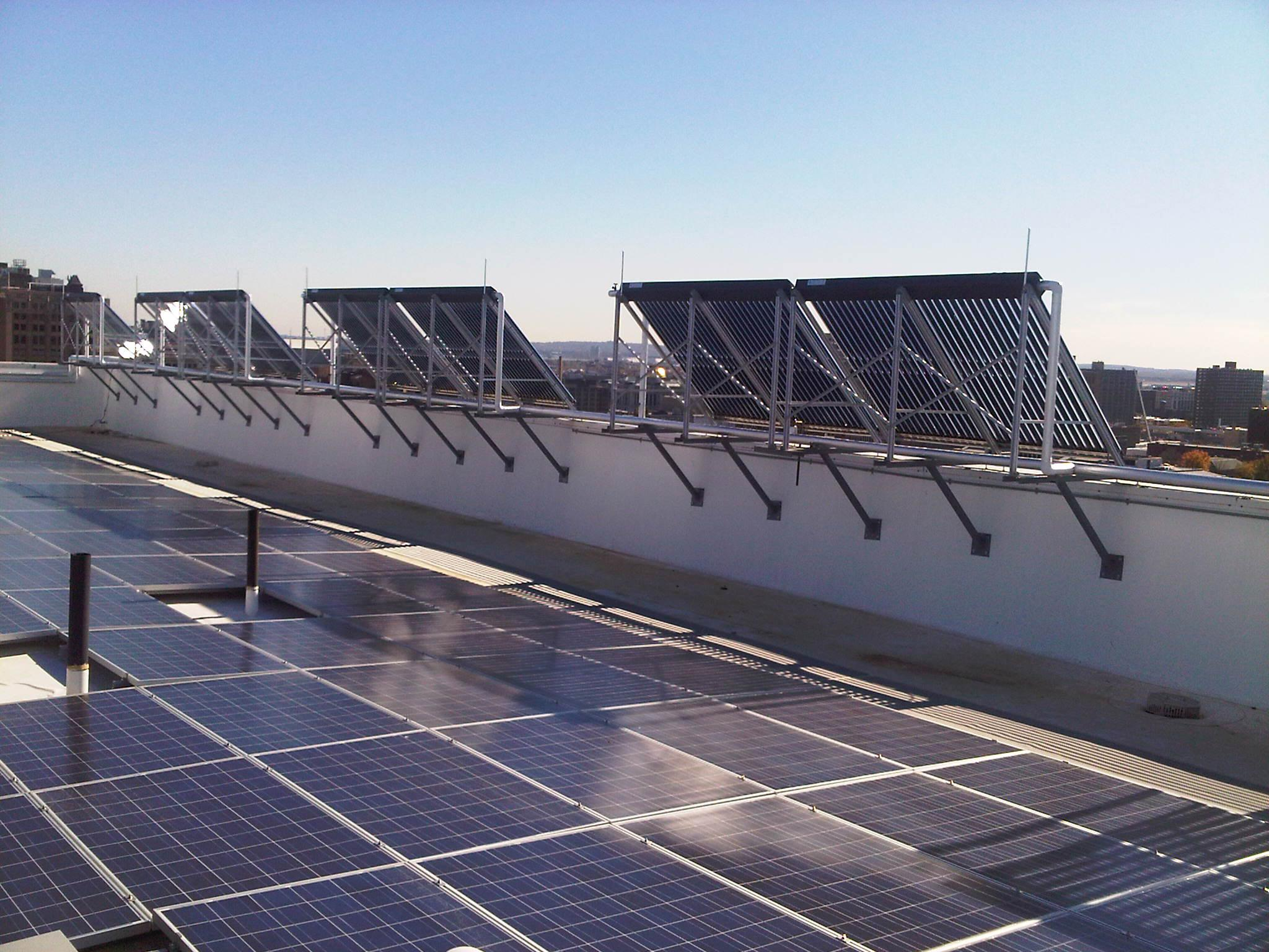 NJIT roof solar collectors